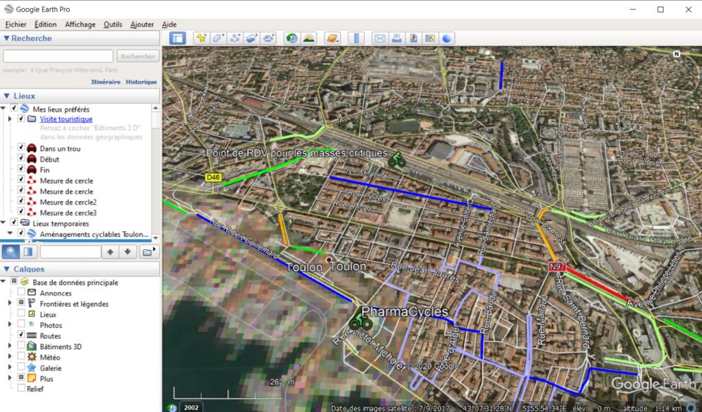 Vue Google Earth.